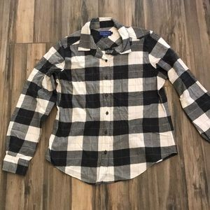 Pendleton Flannel Blouse Large, Semi Fitted